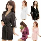 Women Satin Lace Sexy Lingerie Sleepwear Nightdress Bedgown Bedjacket Underwear