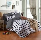 Star Cotton Blend Single Double King Size Bed Pillowcase Quilt Duvet Cover Set