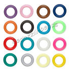 Lot of 50 Round 9mm Rubber Ring Spacer Rondelle Disc Beads with Big 5mm Hole