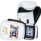 WHITE DUO GEAR 'RAJA' BOXING SPARRING AND PADWORK MARTIAL ARTS SPORTS GLOVES