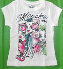 Monster High Girls White T-Shirts Sizes XSmall 4 and Small 5-6 NWT