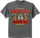 men's big and tall t-shirt rt 66 sign route 66 motor oil design tee shirt image