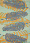 Blue Leaves Branches Stems Canopy Contemporary Area Rug Nature Print 543-60760