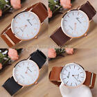 Women's Simple Casual Jewelry Watches Leather Stainless Steel Quartz Wrist Watch