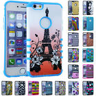 For iPhone 6 6S PLUS - HARD SOFT IMPACT HYBRID SHOCK PROOF COVER CASE DESIGN