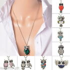 HX 1PC Fashion Silver Tone Necklaces Pendants Chains Owl Style Christmas Gift