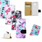 Flower Pattern for Samsung Galaxy Flip Stand Hybrid Wallet Leather Case Cover