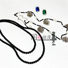 Black Butler Undertaker Cosplay Chain Necklace Ring Set Cosplay Accessorie Prop