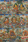 "9 WOOD SCROLLS THANGKA! ALL 48"" BLESSED & BROCADED ! EIGHT FORMS PADMASAMBHAVA"