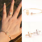 2pcs/set Women's Pineapple Rings & Bracelet Stylish Alloy Rings Charm Jewelry