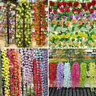 Artificial Silk Fake Flower Ivy Vine Hanging Garland Wedding Home Garden Decor
