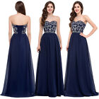 Ladies Sweetheart Long Wedding Evening Party Ball Gown Cocktail Dress Size 6~20