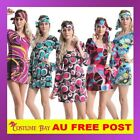 1960s 70s Retro Hippie Girl Disco Dancing Costume Fancy Dress Groovy Hens Party