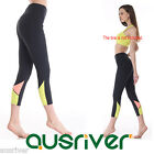 Profesional Women's 3/4 Stretching Yoga Pants Elastic Running Exercise Trousers