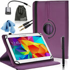 EEEKit for 10in Tab,PU Leather Case Cover+Audio Spilitter Cable+Stylus+Accessory