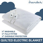 Dreamaker Quilted Electric Blanket Heating Bed Fitted MATTRESS TOPPER All Size