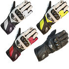Richa RS 86 Sports Leather Motorcycle Gloves Motorbike Race CE Knuckle Protector