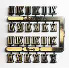 """3/8"""" Tall Roman Numerals 3,6,9,12 For Use On Clocks 18 sets"""