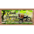 Spring Wood Signs -Think Spring GS 1718 Wood Plaque-GiggleSticks