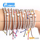 "Fashion Heart Shape Silver Plated Bracelet Beads 7""  14 Colors Selectable Gbeads"