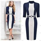 Women's Elegant Evening Party Formal Business Work Wear Bodycon Pencil Dresses