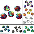 "10PCs Resin Embellishment scales mermaid Dome Cameo Cabochon 10mm( 3/8"")"
