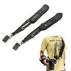 Black Single Shoulder Sling Belt Strap For DSLR Digital SLR Camera Quick Rapid J