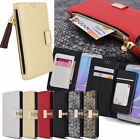 Zipper Wallet Diary Case for Samsung Galaxy Note 5 4 3 S6 edge V10 G4 iPhone 6S