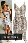 Women's Ladies Celeb inspired SNAKESKIN ASYMMETR Party Bodycon Dress UK 8-14