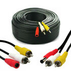 CCTV Security DVR Camera Phono RCA AV Audio Video DC Power Cable Lead 5m - 50M