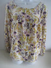 Old Navy womens crepe swing top blouse 100% cotton purple gold floral NEW