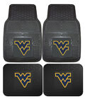 West Virginia Mountaineers Car Mats 4 Piece Front & Rear Heavy Duty Vinyl