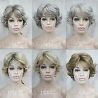 2016 vogue women's short curly synthetic full wigs everyday /six-color selection
