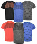 Mens Short Sleeved Light Reflective Running/Gym T Shirts Vest Muscle Neon
