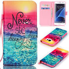 For Samsung Galaxy Phone Fashion Magentic Leather Card Wallet Stand Case Cover