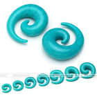 Pair Acrylic Spiral Snail Plug Taper Stretcher Stretching Earring Expander Gauge