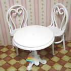 Cute Miniature DollHouse Furniture Metal Dining Table with 2 Chairs Playing set
