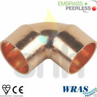 Copper End Feed Fittings - Elbow 15mm or 22mm CE - WRAS - EN1254-1 Approved