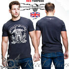RED TORPEDO GUY MARTIN MENS LIVE TO RIDE CAFE RACER CASUAL T SHIRT BLACK