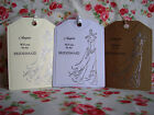Personalised ''Will You Be My'' Bridesmaid/Flower Girl/Witness etc. Tag&Envelope