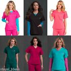 NEW WOMEN MED COUTURE NURSING UNIFORM SIGNATURE V-NECK SCRUB TOP XS-XL #8403
