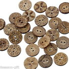 Gift Wholesale Mixed Pattern Coconut Shell 2Holes Sewing Buttons Scrapbooking