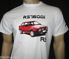FORD ESCORT MK3 RS1600i T-SHIRT - White + Red Car or Steel Blue in S M L XL XXL
