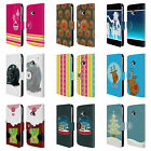 HEAD CASE DESIGNS MIX CHRISTMAS COLLECTION LEATHER BOOK CASE FOR HTC ONE M7