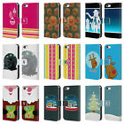 HEAD CASE DESIGNS MIX CHRISTMAS COLLECTION LEATHER BOOK CASE FOR APPLE iPHONE 5C