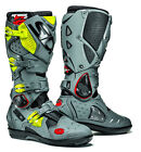 SIDI CROSSFIRE 2 SRS BLACK GREY FLUO MOTORCYCLE OFF ROAD MOTO-X MX ENDURO BOOTS