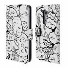 HEAD CASE DESIGNS DOODLE GALORE LEATHER BOOK WALLET CASE COVER FOR LG G2