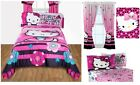 KIDS GIRLS SANRIO HELLO KITTY BEDDING BED IN A BAG / COMFORTER SET - 2 PRINTS