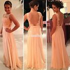 Ladie's elegant Chiffon Evening Dress lace long party dress new bodycon dress