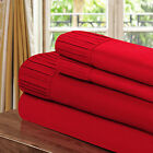 Chic Home Pleated Microfiber Sheet Red - Twin, Full, Queen, King